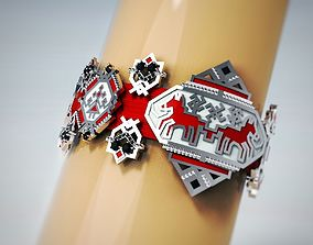 russian embroidery ornament bracer 3D printable model