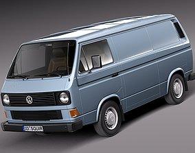 3D Volkswagen T3 Van 1979-1988