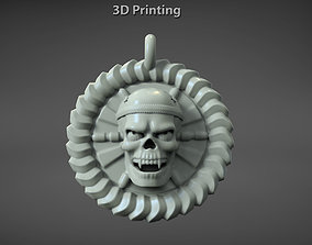 Human skull pendant for 3d printing