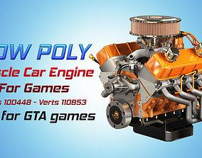 Muscle Car Engine - V8 Muscle Engine 3D asset