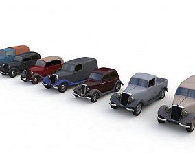 3D asset 7 CLASSIC CARS
