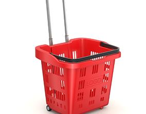 3D model Rolling Shopping Basket