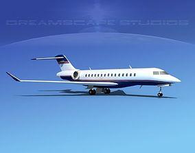 3D model Bombardier Global 5000 V15