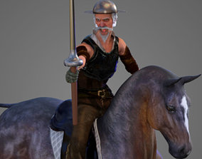 Don Quijote De La Mancha 3D model
