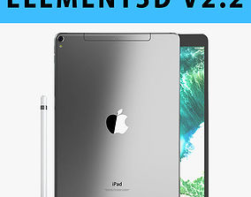 E3D - iPad Pro 10 5 Inch Cellular Space Grey 3D model