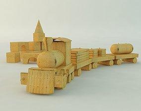 Wooden Train 3D model