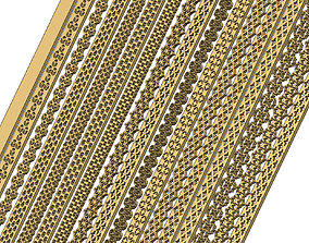 3D print model Moucharabih pattern perforated strips