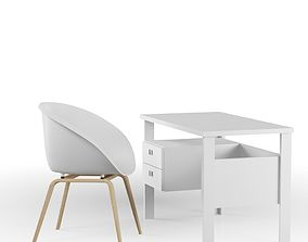 3D Set Writing desk and Chair