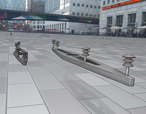Electricity Poles Insulators 9 - Object 115 3D model