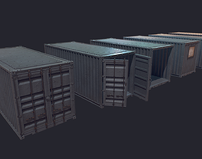 3D model low-poly Cargo Container