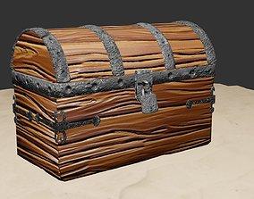 3D Wooden Treasure Chest