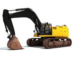 Yellow Excavator 3D model