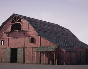 3D model Old West Modular Barn