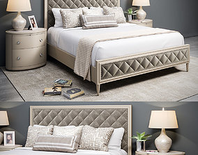 Caracole Bed 3D model low-poly