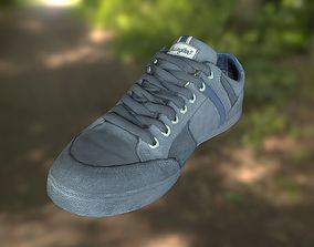 game-ready Sneaker shoe 3D model low poly