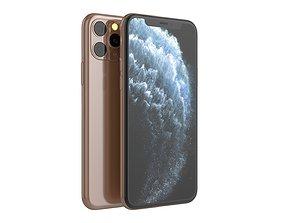 3D iPhone 11 Pro Gold