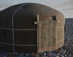 3D yurt felt house