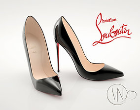 Pro - Louboutin Classic Shoes 3D model High and Low Poly