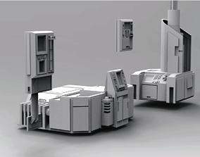Scifi computers kitbash 3D Model dressing