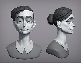 3D model Cartoon female character Gloria base mesh