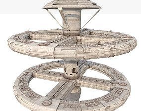 3D Space station spaceship