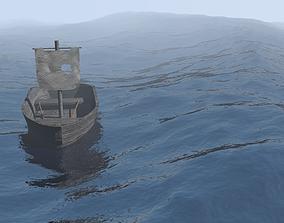 abandoned boat 3D model VR / AR ready