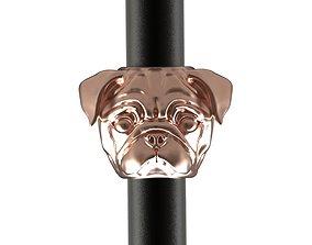 Pug dog BEAD BRACELET charm 3D print model