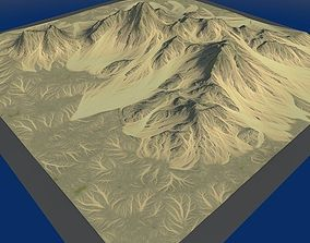 Lowpoly Mountain x4 3D asset