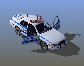 Police Car with Interior 3D model