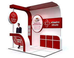 3D model Exhibition Stand - ST009