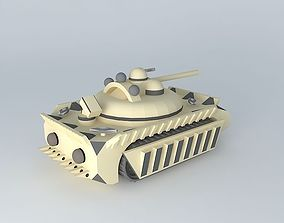 3D model Unmanned Tank