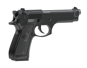 Beretta 92 Semi-Automatic Pistol 3D model