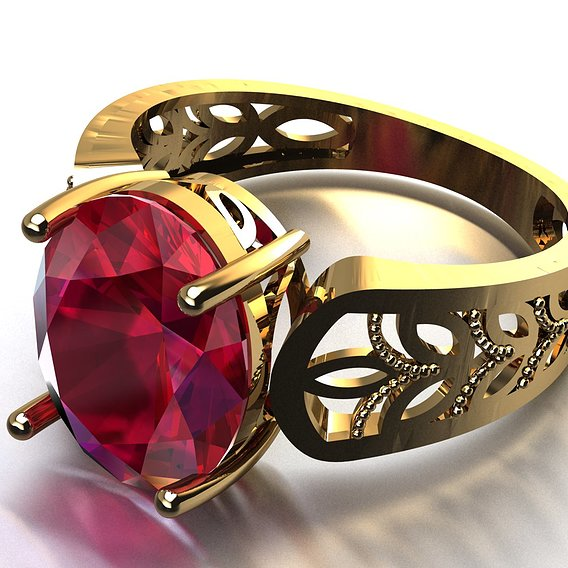 ruby women ring