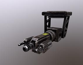 3D asset TURRET 01