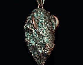 3D printable model Buffalo pendant