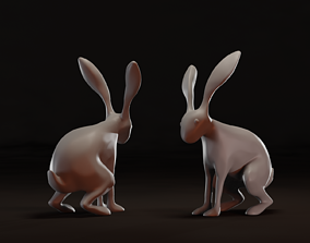 3D printable model Hare Sculpture - by Christopher Michael