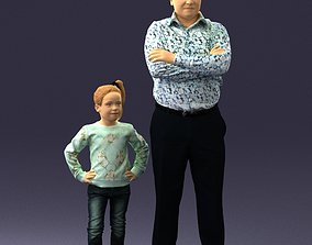 Father and daughter 0040 3D model