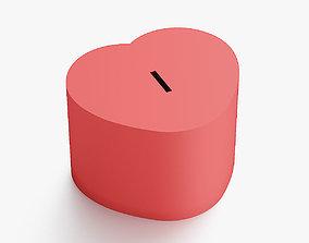 3D printable model Heart coin box