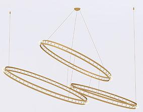 Quasar CITADEL COMPOSITION chandelier 3D