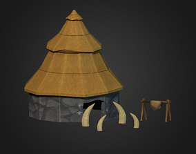 3D model Stone Age House