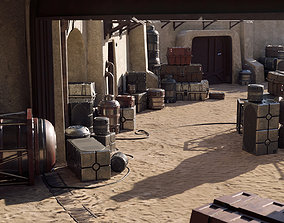 Star Wars Crates and Barrels 33 Variants - 3D realtime 2