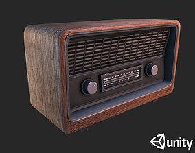 3D asset Retro Radio