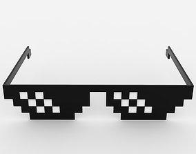 3D asset Thug Life Glasses