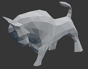 Bull Low Poly - 3D Printable