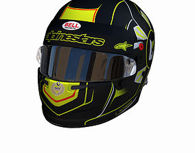 Norris helmet Daytona 3D asset