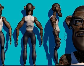 Personaje Cartoon Con Accesorios 3D model