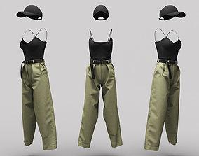 3D model Female Clothing 09
