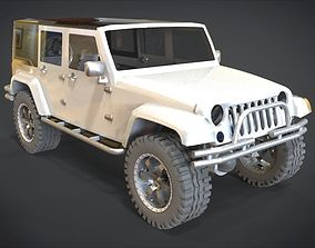 3D model 2011 Jeep Wrangler JK