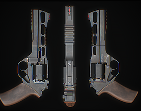 Chiappa Rhino 3D model low-poly