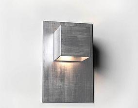 Carre Wall Lamp aluminium 3D